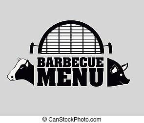 Bbq and grill menu design