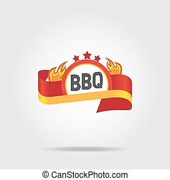 BBQ badge icon isolated