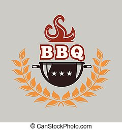 BBQ Barbecue Grill Vector Image