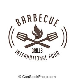 BBQ Barbecue Grills International Food Vector Image