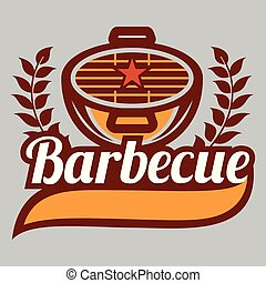 BBQ Barbecue Logo Vector Image
