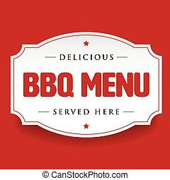 Bbq barbecue menu vintage sign vector