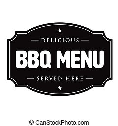 Bbq barbecue menu vintage sign