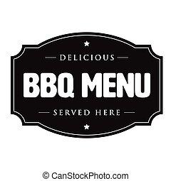 Bbq barbecue menu vintage sign