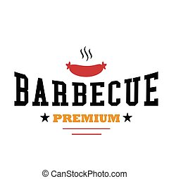 BBQ Barbecue Premium Vector Image
