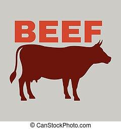 BBQ Beef Logo Vector Image