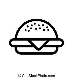 bbq burger icon