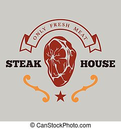 BBQ Fresh Meat Vector Image