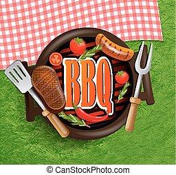 BBQ Grill elements.