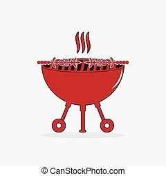 BBQ grill illustration