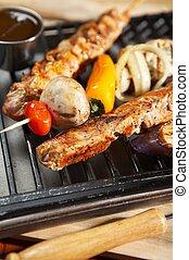 bbq, -, grill, lebensmittel