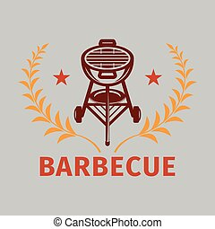 BBQ Grill Logo Vector Image