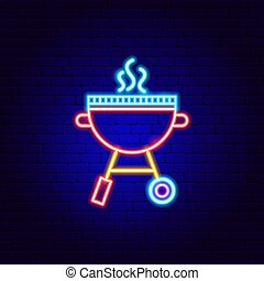 BBQ Grill Neon Sign