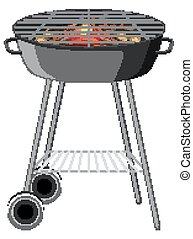 BBQ grill on white background