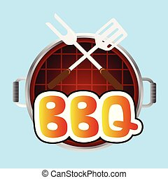 BBQ Grill Top View Background Vector Image