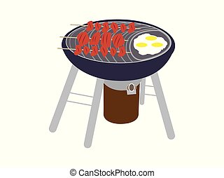 BBQ grill with kebab