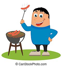 (bbq), grillsütő