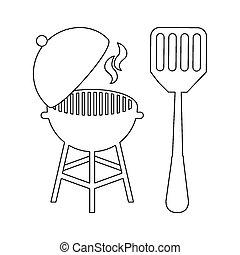 bbq icon design, vector illustration eps10 graphic