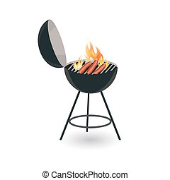 BBQ icon isolated