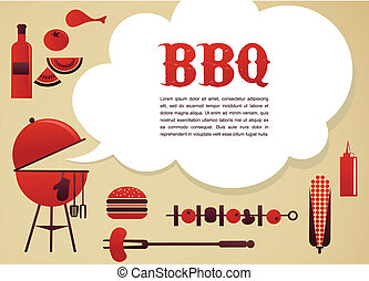 bbq, illustratie
