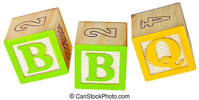 BBQ in Alphabet Blocks