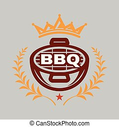 BBQ King Logo Vector Image