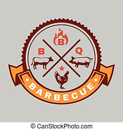 BBQ Logo Barbecue Vector Image