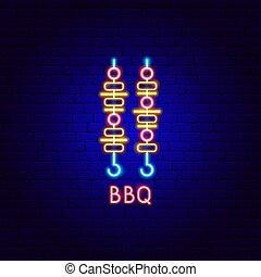 BBQ Neon Label