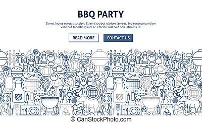 BBQ Party Banner Design