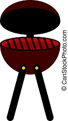 BBQ party grill icon isolated
