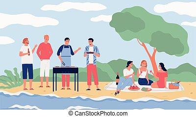 Bbq Party Illustration