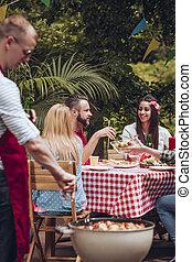 BBQ party in garden