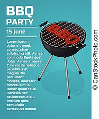 BBQ Party invitation background.
