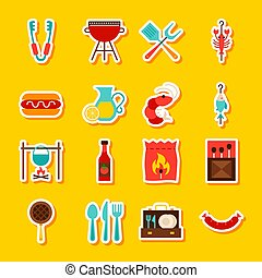 BBQ Party Stickers