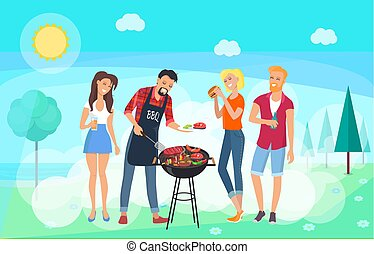 BBQ Party Time, Summer Meadow, Friends Meeting