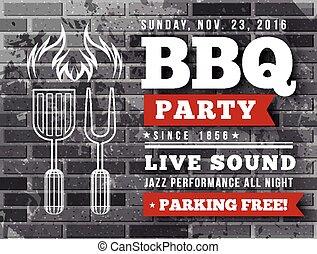 BBQ party vector illustration