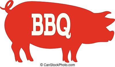 bbq, porca