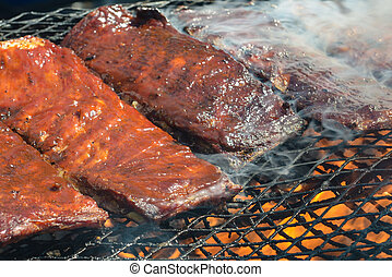 BBQ ribs on the Grill