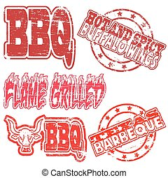 BBQ Rubber Stamps
