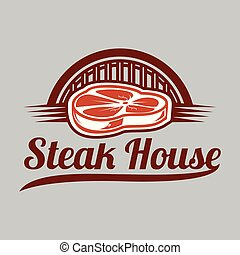BBQ Steak House Vector Image
