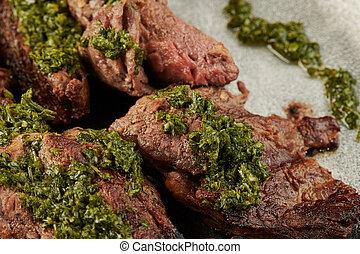 Bbq steak meat