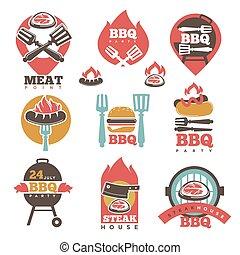BBQ Steak Party House Meat Point Signs Collection - BBQ 24...