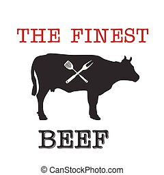 BBQ The Finest Beef Vector Image
