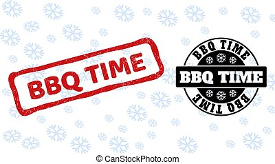 BBQ Time Grunge and Clean Stamp Seals for New Year