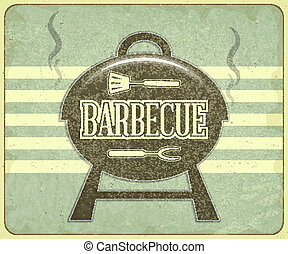 BBQ - Retro Design Grill and BBQ Menu - Vector illustration