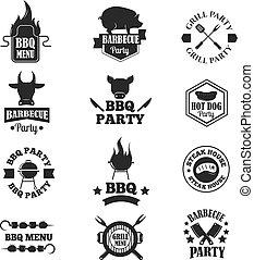BBQ vector illustration set