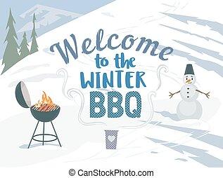 BBQ winter picnic