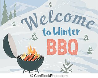 BBQ winter picnic