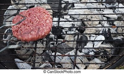 BBQ with hamburgers
