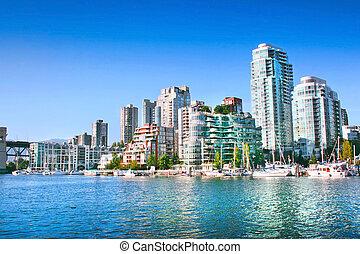bc, canadá, skyline, vancouver